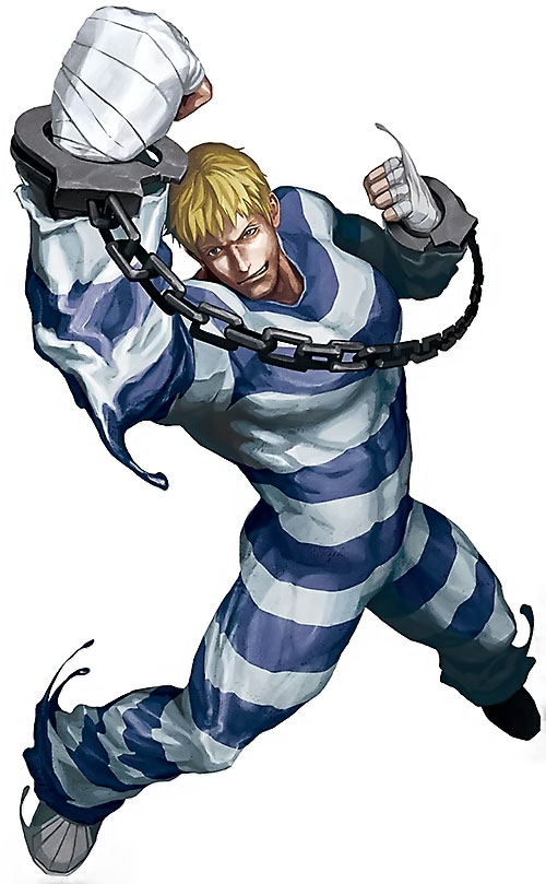 Cody Travers (Final Fight / Street Fighter video games) fighting with handcuffs