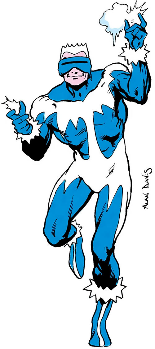 Coldsnap of the Masters of Disaster (DC Comics) from the Who's Who by Alan Davis