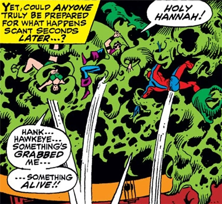 An anemone-like alien captures the Avengers for the Collector