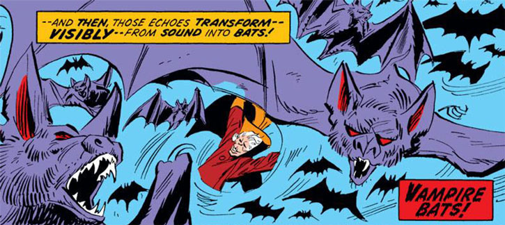 The Collector summons vampire bats