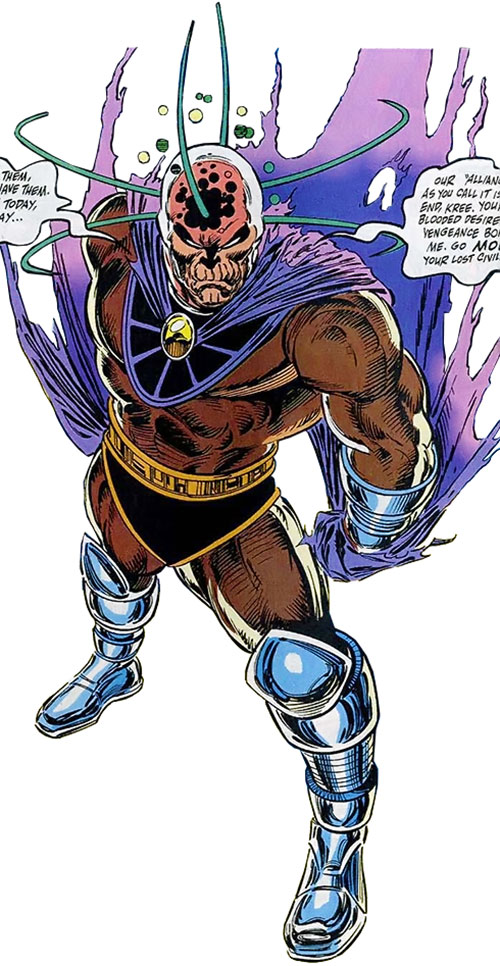 Collector of the Elders (Avengers enemy) (Marvel Comics) inhuman form high angle
