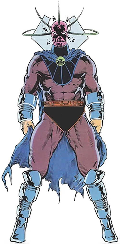 Collector of the Elders (Avengers enemy) (Marvel Comics) in a brown costume
