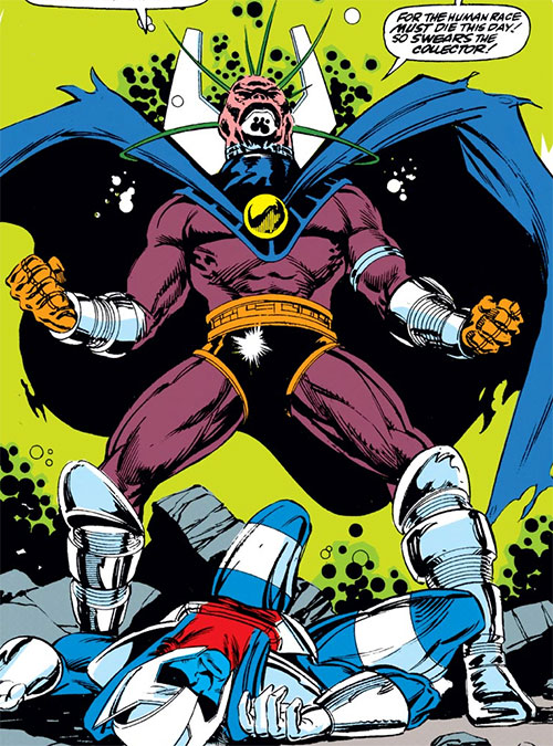 Collector of the Elders (Avengers enemy) (Marvel Comics) vs. Thane Ector