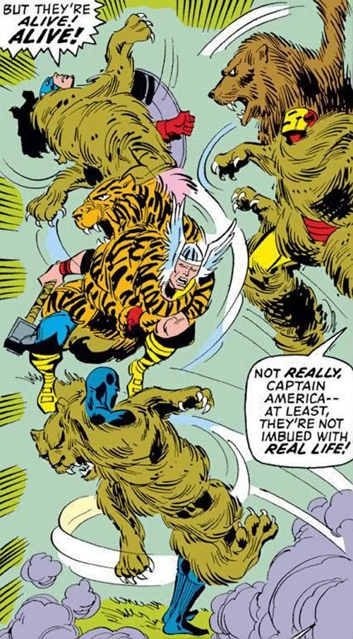 Collector of the Elders (Avengers enemy) (Marvel Comics) - coats of Hercules vs. the Avengers