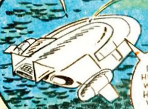 Collector of the Elders (Avengers enemy) (Marvel Comics) - ship over a sea