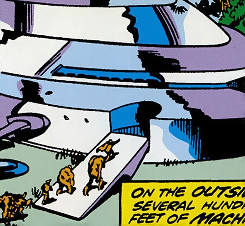 Collector of the Elders (Avengers enemy) (Marvel Comics) - entrance of ship