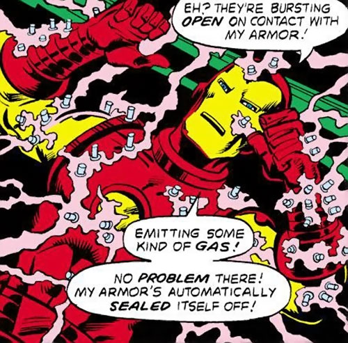 Collector of the Elders (Avengers enemy) (Marvel Comics) - Derosian gun vs. Iron Man