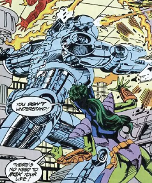 Collector of the Elders (Avengers enemy) (Marvel Comics) - Drakion destructor and Lyja the lazerfist