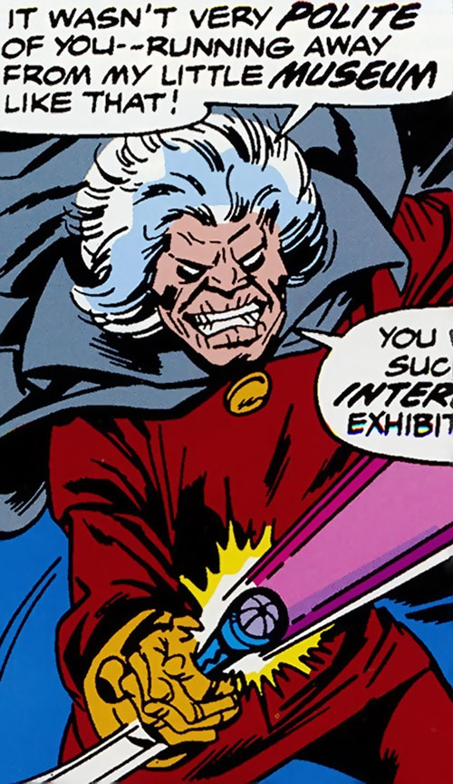 Collector of the Elders (Avengers enemy) (Marvel Comics) using the philosopher's stone