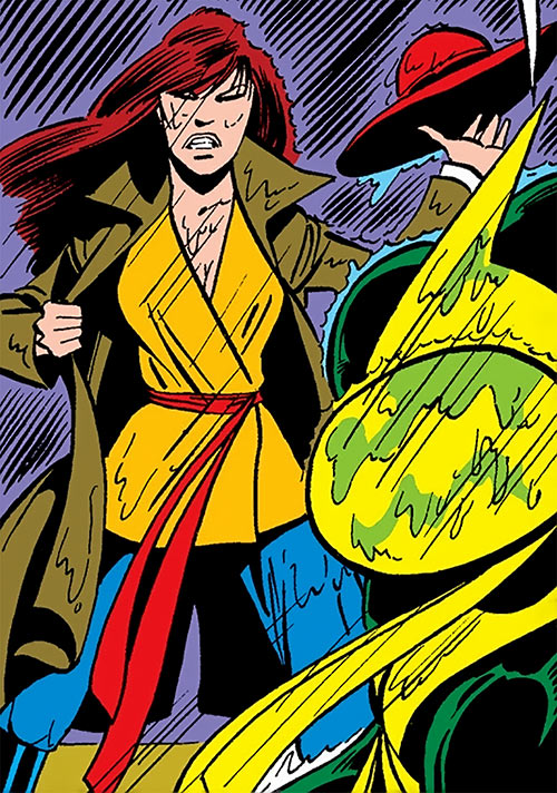 Colleen Wing (Marvel Comics) (Iron Fist) under rain martial arts outfit