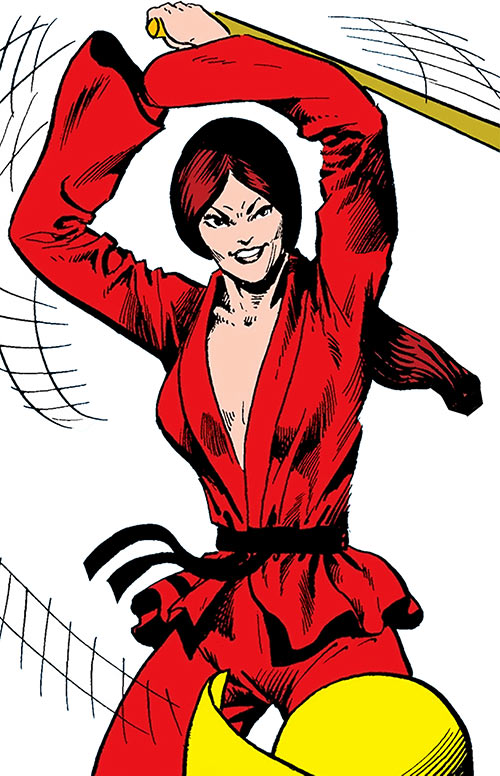 Colleen Wing (Marvel Comics) (Iron Fist) in a red gi