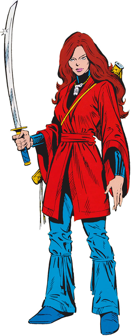 Colleen Wing - Marvel Comics - Daughters of the Dragon - From the 1985 official handbook