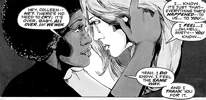 Colleen Wing (Marvel Comics) (Iron Fist) and Misty Knight friendship