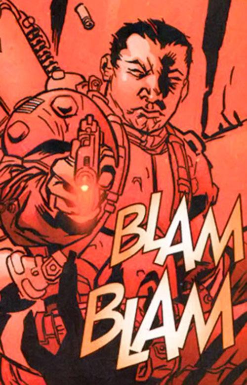 Colonel Rosetti of the Human Defense Corps (DC Comics)
