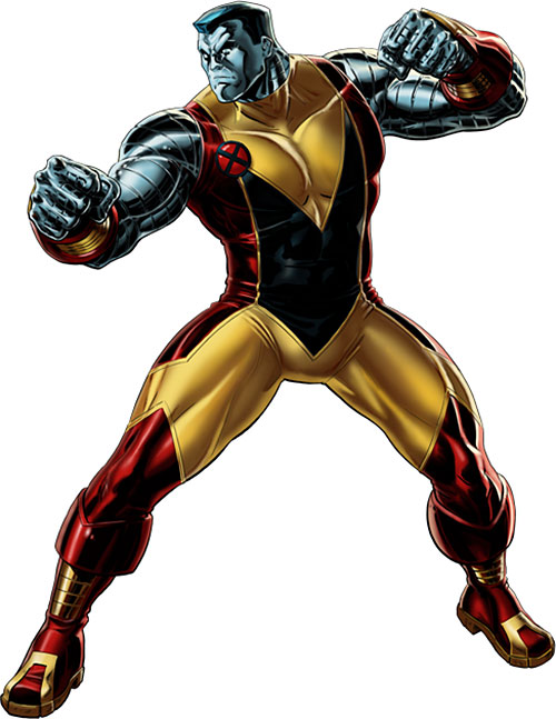 Colossus of the X-Men (Marvel Comics) in the yellow primary costume