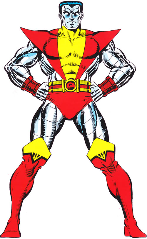 Colossus in the 1983 Official Marvel Comics Handbook
