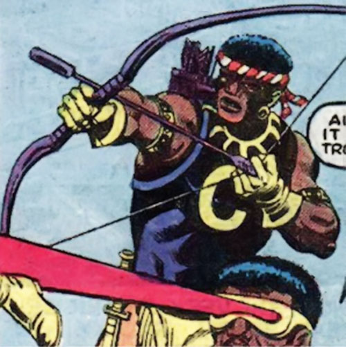 Comanche (Luke Cage enemy) (Marvel Comics) and Shades with special weapons