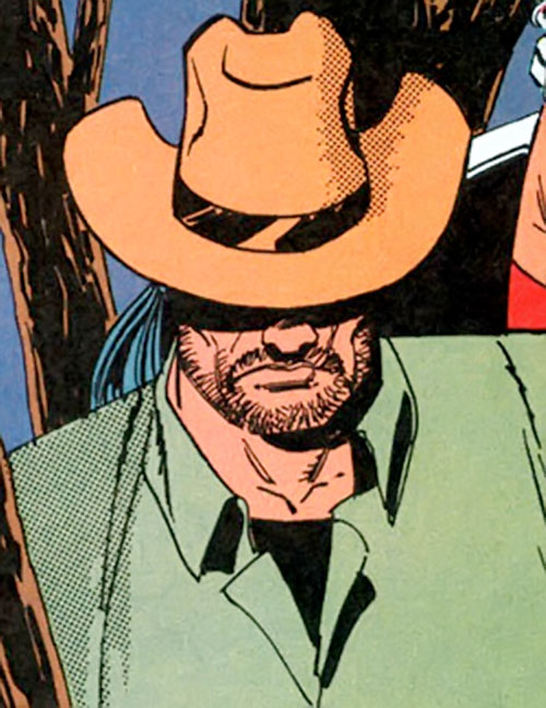 Combat (Punisher enemy) (Marvel Comics) with a Stetson