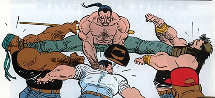 Combat in a bar brawl
