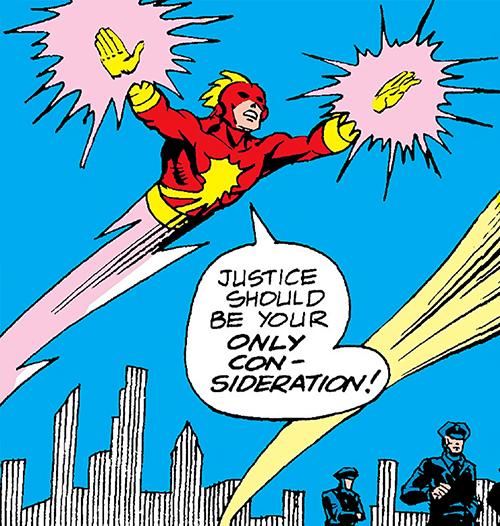 Comet (Nova ally) (Marvel Comics) flying around