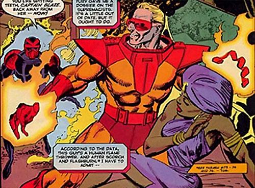 Captain / Commander Blaze of the Supremacists (Marvel Comics) vs. Night Thrasher