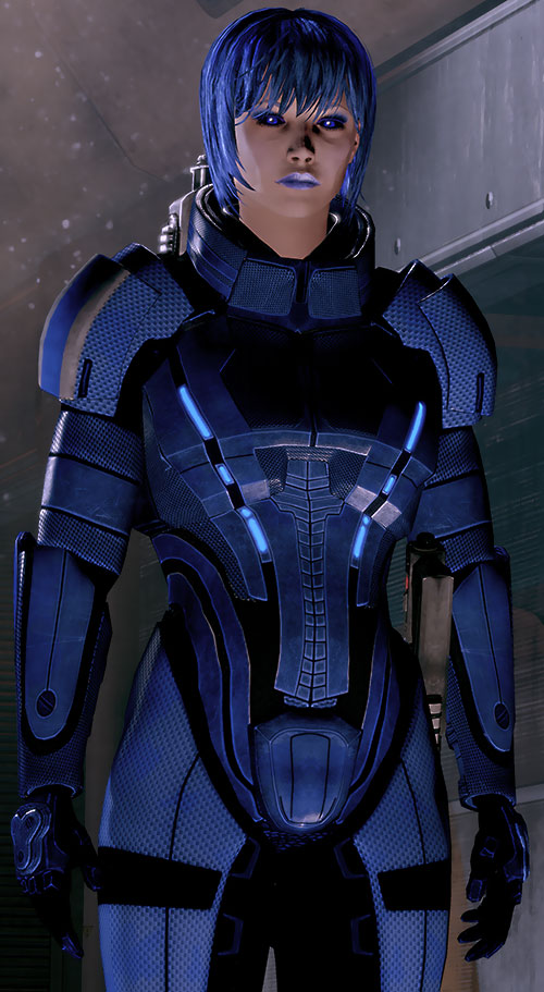 Commander Mari Shepard (Mass Effect 2) body armor but not helmet