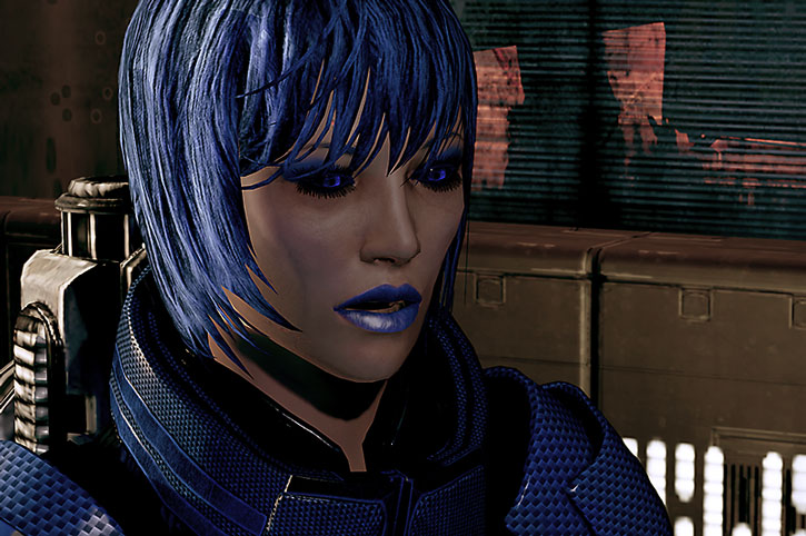 Commander Mari Park-Shepard face closeup