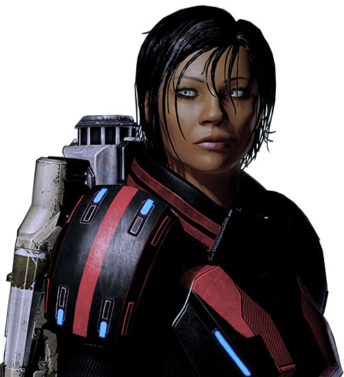 Commander Shepard (Mass Effect 2) cold gaze