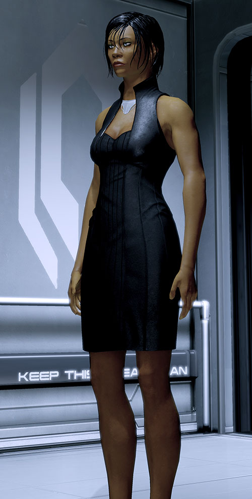 Commander Shepard (Mass Effect 2) black mini dress