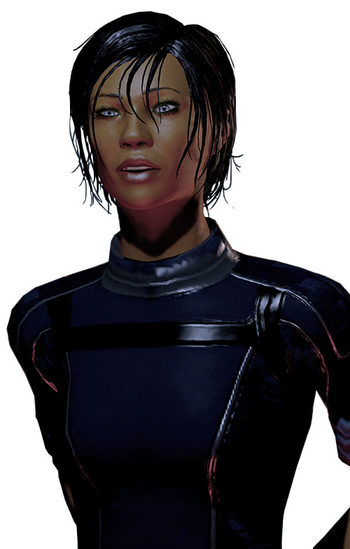 Commander Shepard (Mass Effect 2) alliance blues, chatting