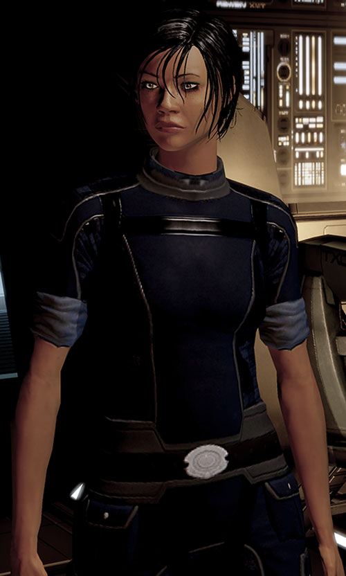Commander Shepard (Mass Effect 2) blue alliance uniform