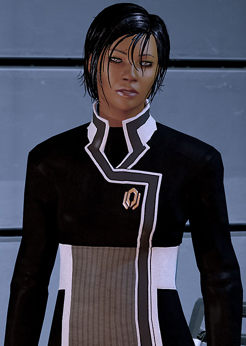 Commander Shepard (Mass Effect 2) squinting