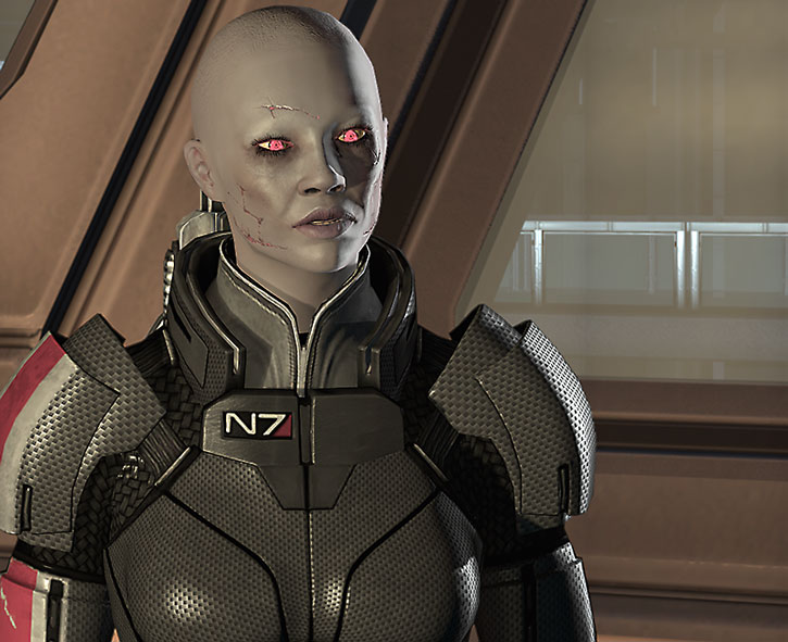 Zombie Commander Shepard looks sceptical