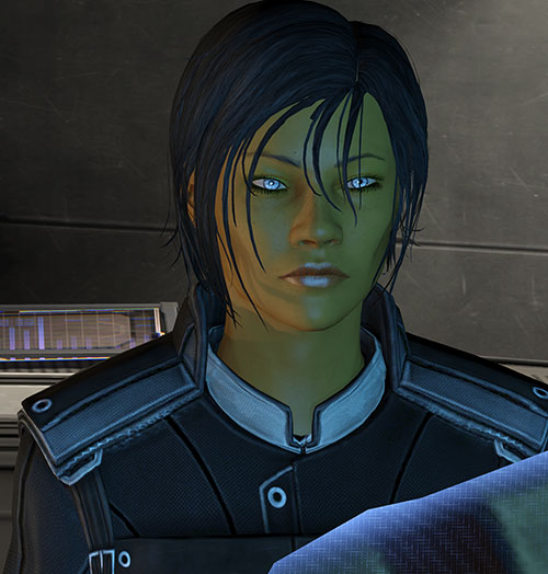 Commander Shepard (Mass Effect 3) luminous eyes