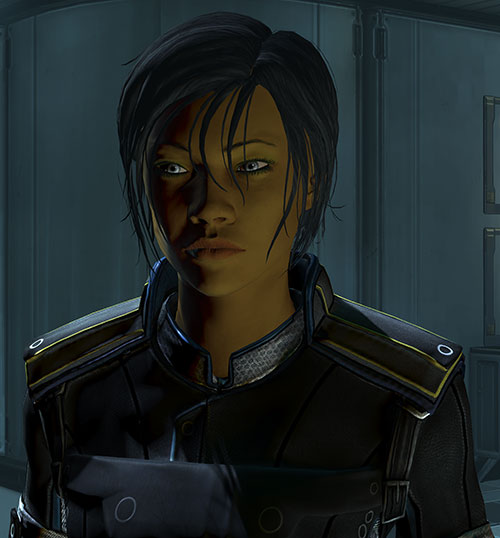 Commander Shepard (Mass Effect 3) shadowed face