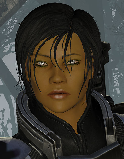 Commander Shepard (Mass Effect 3) face closeup dream sequence forest