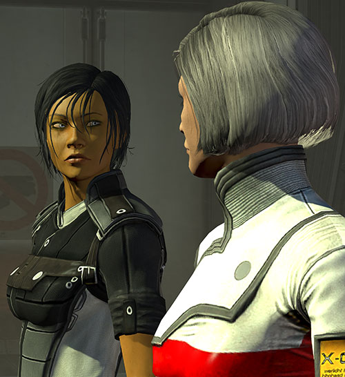 Commander Shepard (Mass Effect 3) and Doctor Chakwas