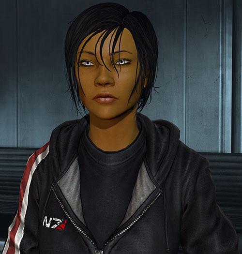 Commander Shepard (Mass Effect 3) black T-shirt tired air