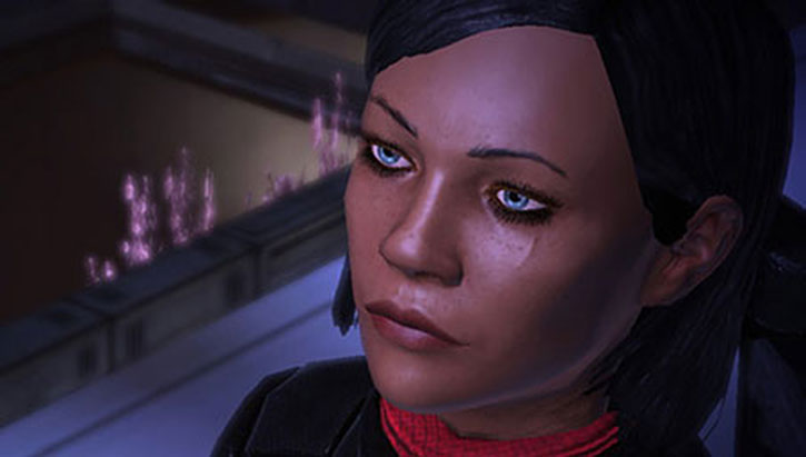 Commander Shepard in the Council Tower