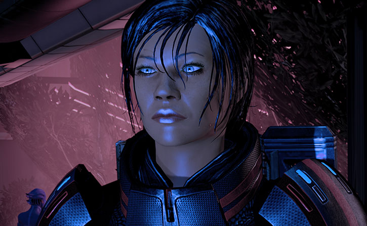 Commander Shepard being interviewed