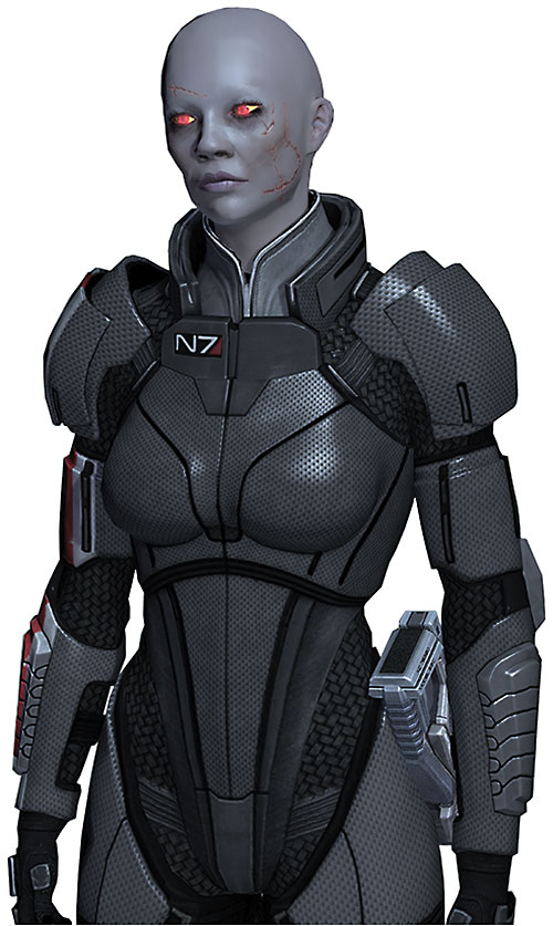Commander Shepard (Mass Effect 2) (Mandala) (zombie) in N7 gray armor