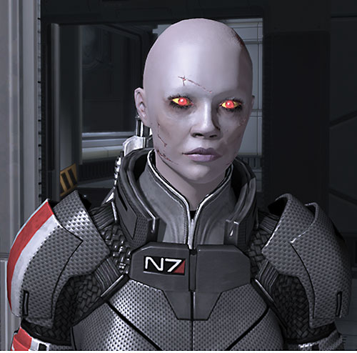 Commander Shepard (Mass Effect 2) (Mandala) (zombie) looking dizzy