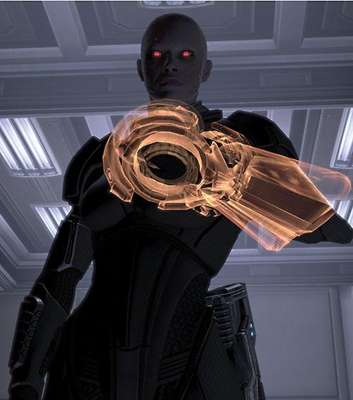 Commander Shepard (Mass Effect 2) (Mandala) (zombie) omni-tool