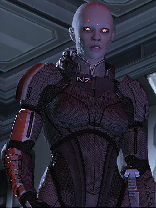 Commander Shepard (Mass Effect 2) (Mandala) (zombie) low angle shot