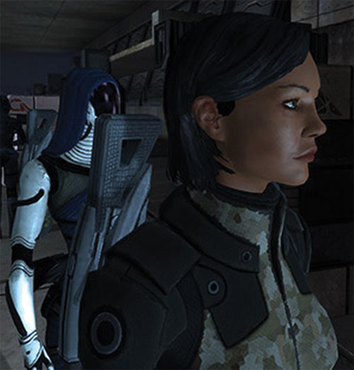 Commander Shepard (Mass Effect 1) (Mandala) and Tali side view