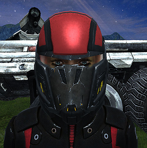 Commander Shepard (Mass Effect 1) (Mandala) helmet and eyes closeup