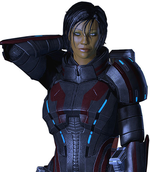 Commander Shepard (Mass Effect 2 late) luminous