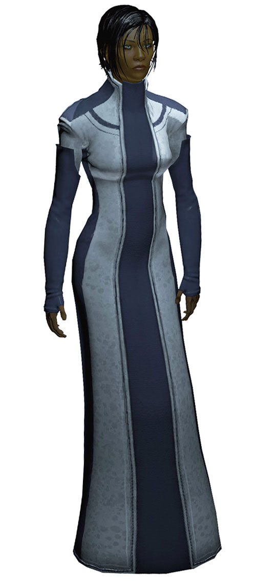 Commander Shepard (Mass Effect 2 late) Asari dress