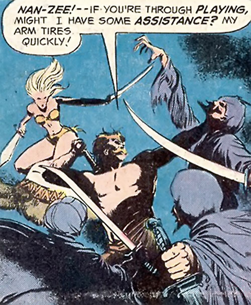Companions of Beowulf (DC Comics) - Nan-Zee and Wyglaf