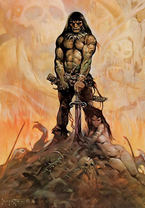 Conan the adventurer - Frazetta painting